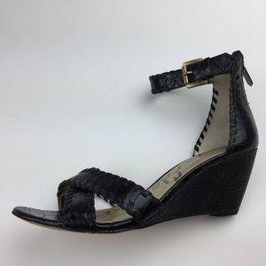 bc59177a42fe3a Sam Edelman Shoes - Sam Edelman Silvia Black Wedge Sandals Ankle Strap